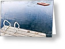 Dock On Calm Summer Lake Greeting Card by Elena Elisseeva