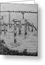 Dock Sketch Greeting Card by Megan Dirsa-DuBois