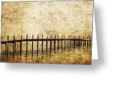 Dock Greeting Card by Skip Nall