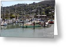 Docks At Sausalito California 5d22697 Greeting Card by Wingsdomain Art and Photography