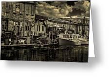 Dockside Greeting Card by Bob Orsillo