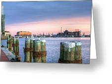 Dockside Greeting Card by JC Findley