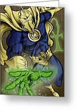 Doctor Fate Greeting Card by John Ashton Golden