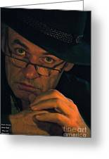 Doctor Faustus By Adel Black Jagger. Greeting Card by Andrzej Goszcz
