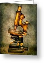 Doctor - Microscope - The Start Of Modern Science Greeting Card by Mike Savad