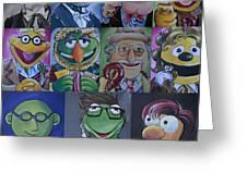 Doctor Who Muppet Mash-up Greeting Card by Lisa Leeman