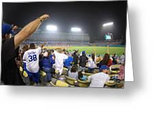Dodger Stadium 3 Greeting Card by Micah May