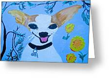 Doggy Time Greeting Card by Marian Griffin