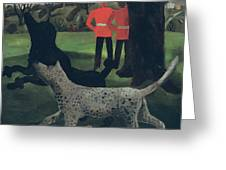 Dogs at Play Greeting Card by Christopher Wood