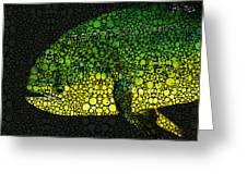 Dolphin Fish Art By Sharon Cummings Greeting Card by Sharon Cummings