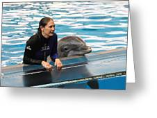 Dolphin Show - National Aquarium in Baltimore MD - 1212230 Greeting Card by DC Photographer