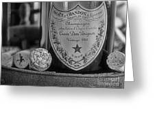 Dom Perignon In Black And White Greeting Card by Paul Ward