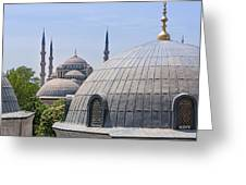 Domes Of Istanbul Greeting Card by Lutz Baar