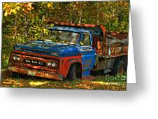 Done Hauling  Greeting Card by Alana Ranney