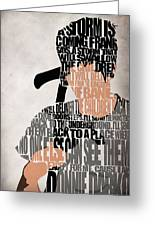 Donnie Darko Minimalist Typography Artwork Greeting Card by Ayse Deniz