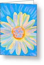 Don't Worry Be Happy Flower Greeting Card by Anne-Elizabeth Whiteway