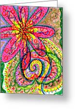 Doodle Flowers Greeting Card by Donniece Smith