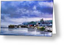 Door County Gills Rock Morning Catch Panorama Greeting Card by Christopher Arndt