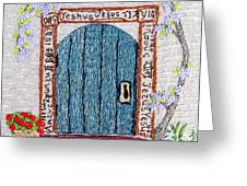 Door With Many Languages Greeting Card by Stephanie Callsen
