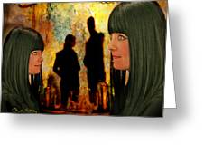 Doppelganger Greeting Card by Chuck Staley