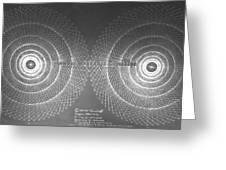 Doppler Effect Parallel Universes Greeting Card by Jason Padgett