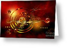 Dore Dans Le Universe Greeting Card by Franziskus Pfleghart