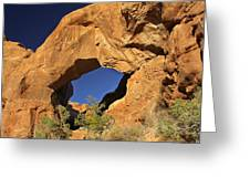 Double Arch - Backside Greeting Card by Mike McGlothlen