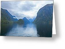 Doubtful Sound Reflections Greeting Card by Alexey Stiop