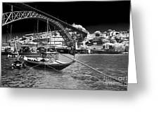 Douro River View Greeting Card by John Rizzuto