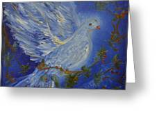 Dove Spirit of Peace Greeting Card by Louise Burkhardt