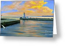 Dover Evening Greeting Card by Michael Swanson