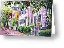 Down On Franklin Street Greeting Card by Alice Grimsley