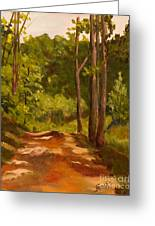 Down The Road Greeting Card by Janet Felts
