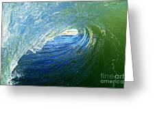Down The Tube Greeting Card by Paul Topp