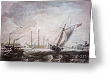 Down To The Sea In Ships Greeting Card by Lianne Schneider