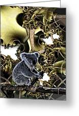 Down Under Greeting Card by Ron Bissett