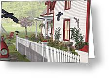 Downeast Morning Greeting Card by Peter J Sucy