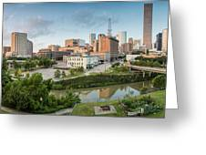 Downtown Houston from UH-D. September Greeting Card by Silvio Ligutti