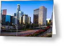 Downtown L.a. Greeting Card by Inge Johnsson