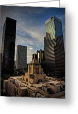 Downtown Los Angeles 004 Greeting Card by Lance Vaughn