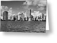 Downtown Miami Greeting Card by Eyzen Medina