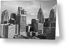 Downtown Philadelphia Greeting Card by Rona Black