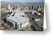Downtown Salt Lake City Greeting Card by Bill Cobb