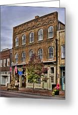 Dowtown General Store Greeting Card by Heather Applegate