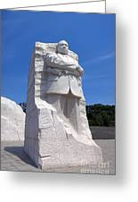 Dr Martin Luther King Memorial Greeting Card by Olivier Le Queinec