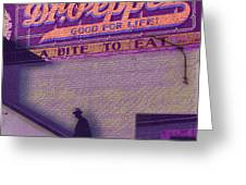 Dr Pepper Blues Greeting Card by Tony Rubino