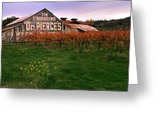 Dr Pierce's Barn Billboard Greeting Card by Jerry McElroy