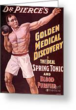 Dr Pierces Spring Tonic And Blood Greeting Card by Science Source