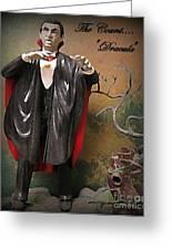 Dracula Model Kit Greeting Card by John Malone