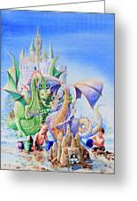 Dragon Castle Greeting Card by Hanne Lore Koehler